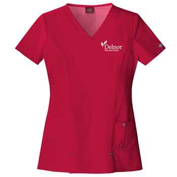 Dickies® Xtreme Stretch Women's V-Neck Scrub Top - Personalization Available