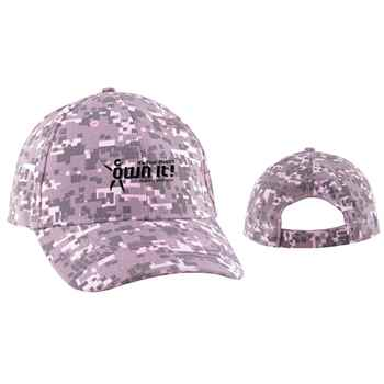 Digital Camo Structured Baseball Cap - Personalization Available