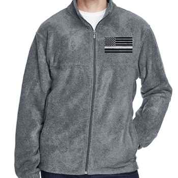 d251c8f06 Thin White Line Flag Harriton® Fleece Full-Zip Jacket - Personalization  Available. AOS1314_1.jpg