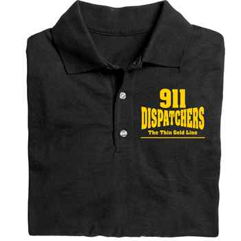 911 Dispatchers: The Thin Gold Line Gildan® DryBlend Jersey Polo - Personalization Available
