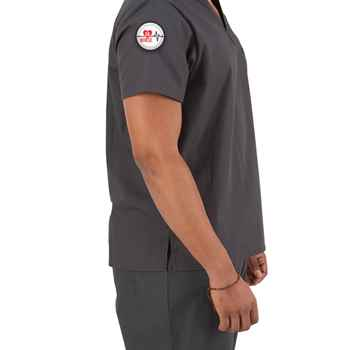 Dickies® V-Neck One-Pocket Scrubs Top With Department Patch - Personalization Available