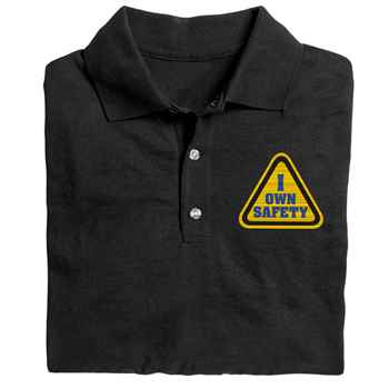 I Own Safety Gildan® DryBlend Jersey Polo - Personalization Available
