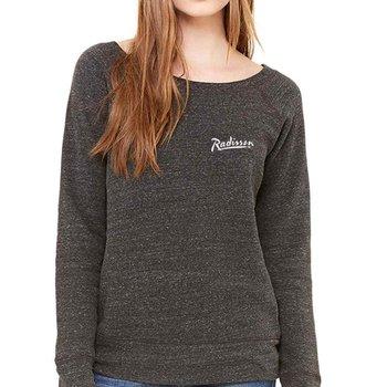 Bella + Canvas® Ladies' Sponge Fleece Wide Neck Sweatshirt - Personalization Available