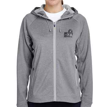 Team 365® Ladies Excel Melange Performance Fleece Jacket - Personalization Available