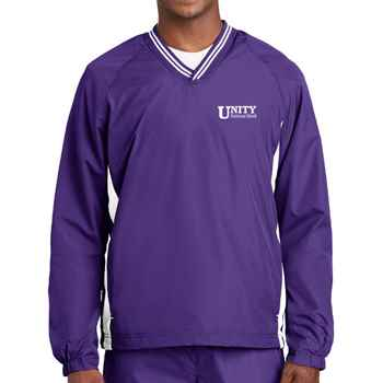 Sport-Tek® Adult Tipped V-Neck Raglan Wind Shirt - Personalization Available