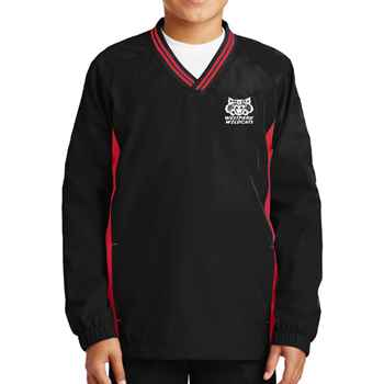 Sport-Tek® Youth Tipped V-Neck Raglan Wind Shirt - Personalization Available