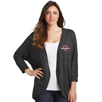 Port Authority® Ladies Marled Cocoon Sweater - Personalization Available