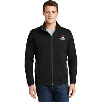 Sport-Tek® Men's Port-Wick® Stretch Contrast Full-Zip Jacket