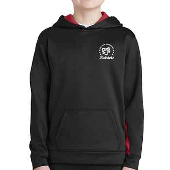 Sport-Tek® Youth Sport-Wick® Fleece Colorblock Hooded Pullover - Personalization Available