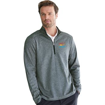 Adidas® Men's Brushed Terry Heather Quarter Zip - Personalization Available