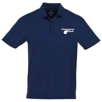 Elevate® Men's Wilcox Short Sleeve Polo Shirt - Heat Transfer Personalization Available