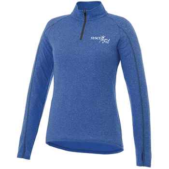 Elevate® Women's Taza Knit Quarter Zip - Heat Transfer Personalization Available