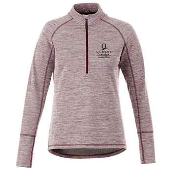Elevate® Women's Crane Knit Half Zip - Heat Transfer Personalization Available