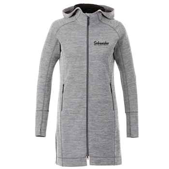 Elevate® Women's Odell Knit Zip Hoody - Heat Transfer Personalization Available