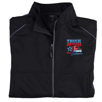 Truck Drivers Keep America Rolling Core 365® Three-Layer Knit Full-Zip Jacket - Personalization Available