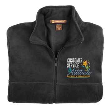 Customer Service Is An Attitude, Not Just A Department Harriton® Full-Zip Fleece Jacket - Personalization Available