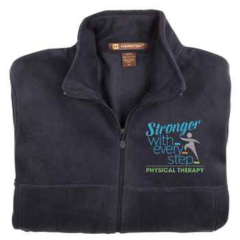 Physical Therapy: Stronger With Every Step Men's Harriton® Fleece Full-Zip Jacket - Personalization Available