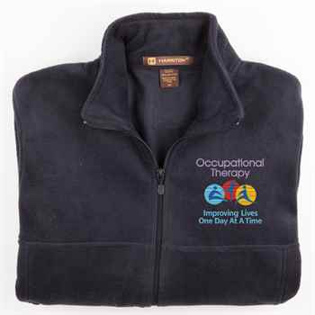 Occupational Therapy: Improving Lives One Day At A Time Men's Harriton® Fleece Full-Zip Jacket - Personalization Available