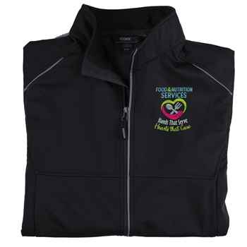 Food & Nutrition Services: Hands That Serve, Hearts That Care Core 365® Three-Layer Knit Full-Zip Jacket - Personalization Available