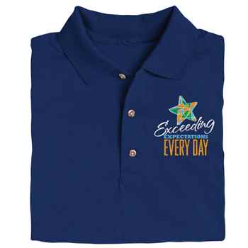 Exceeding Expectations Every Day Gildan® DryBlend Jersey Polo - Personalization Available