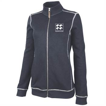Charles River Apparel® Women's Conway Flatback Rib Full-Zip Jacket -Embroidery Personalization Available