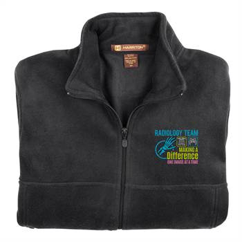 Radiology Team: Making A Difference One Image At A Time Men's Harriton® Full-Zip Fleece Jacket - Personalization Available