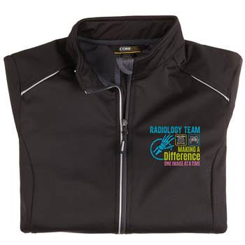 Radiology Team: Making A Difference One Image At A Time Women's Core 365® Three-Layer Knit Full-Zip Jacket- Personalization Optional