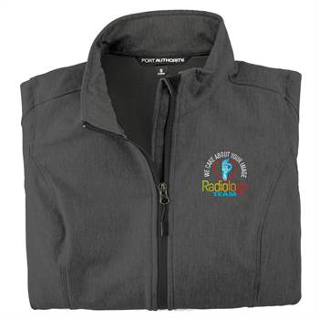 Radiology Team: We Care About Your Image Women's Port Authority® Core Soft Shell Jacket - Personalization Available