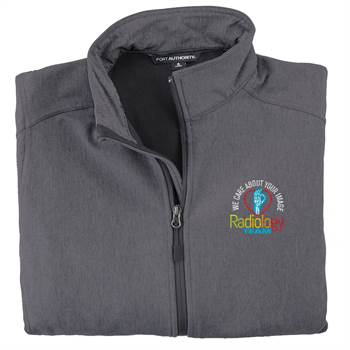 Radiology Team: We Care About Your Image Men's Port Authority® Core Soft Shell Jacket - Personalization Available