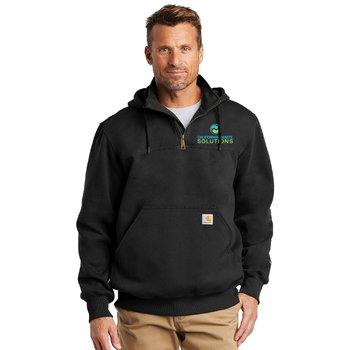 Men's Carhartt® Rain Defender® Paxton Heavyweight Hooded Zip Mock Sweatshirt - Personalization Available