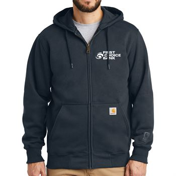 Men's Carhartt® Rain Defender® Paxton Heavyweight Hooded Zip Front Sweatshirt - Personalization Available