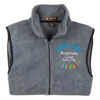 Home Care: Brightening Lives Every Day Harriton® Full-Zip Fleece Vest - Personalization Available