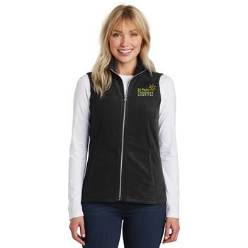 TEAM WEAR Port Authority® Women's Full-Zip Microfleece Vest - Personalization Available
