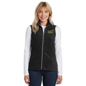 TEAM WEAR Port Authority® Women's Full-Zip Microfleece Vest - Personalization Available