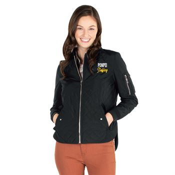 Charles River Apparel® Women's Quilted Boston Flight Jacket - Personalization Available