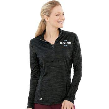 Adidas® Women's Lightweight Melange Quarter-Zip Pullover - Personalization Available