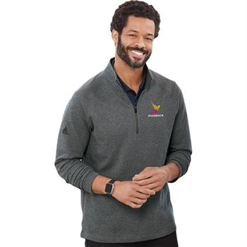 Adidas® Men's Heathered Quarter Zip Pullover - Personalization Available
