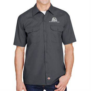 Dickies FLEX Relaxed Fit Short-Sleeve Twill Work Shirt