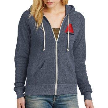 Alternative Women's Adrian Eco™-Fleece Zip Hoodie -Embroidery Personalization Available