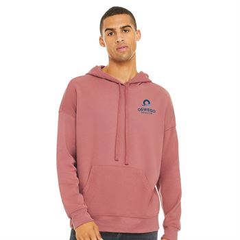 Bella + Canvas® Unisex Sponge Fleece Pullover Hooded Sweatshirt - Embroidery Personalization Available