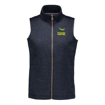 MV Sport® Women's Weatherproof Vintage Sweaterfleece Vest - Personalization Available