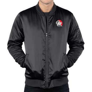 Tri-Mountain® Men's Matte Satin Bomber Jacket - Personalization Available