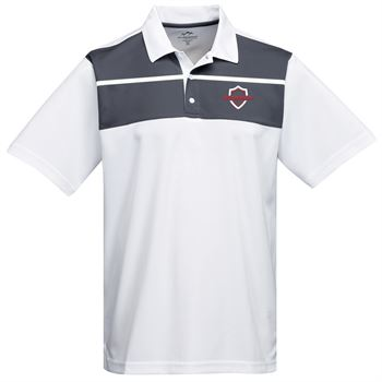 Tri-Mountain® Men's Streak Mini Pique Colorblock Polo Shirt - Personalization Available
