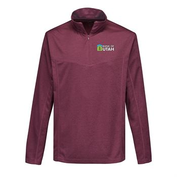 Tri-Mountain® Men's Heather 1/4-Zip Performance Pullover - Personalization Available