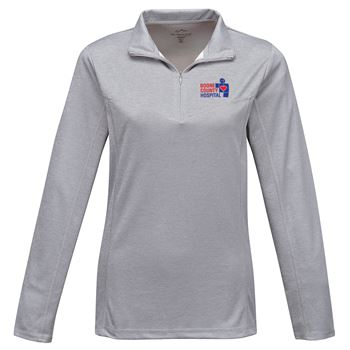 Tri-Mountain® Women's Heather 1/4-Zip Performance Pullover - Personalization Available