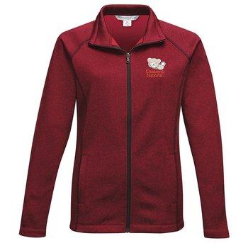 Tri-Mountain® Women's Haze Full-Zip Heather Fleece Jacket - Personalization Available
