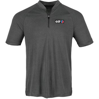 Elevate® Men's Kinport Short Sleeve Stand Collar Polo - Personalization Available