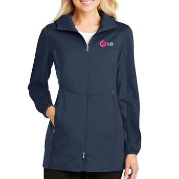 Port Authority® Women's Active Hooded Soft Shell Jacket - Personalization Available