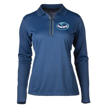 Fossa Apparel® Women's Riviera Long-Sleeve Polo Shirt - Embroidery Personalization Available