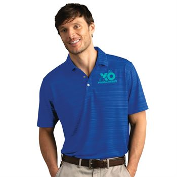 Vansport® Men's Vantage Strata Textured Polo -Embroidered Personalization Available